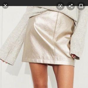 Rose Gold Metallic Skirt